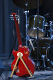 Guitarra na fase Imagem de Stock
