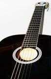 Guitarra negra Fotos de archivo