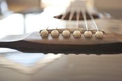 Guitarra negra Imágenes de archivo libres de regalías
