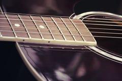 Guitarra no estilo do vintage Imagens de Stock Royalty Free
