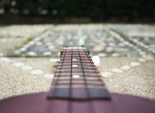 Guitarra no jardim Fotografia de Stock