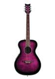 Guitarra púrpura Imagen de archivo libre de regalías