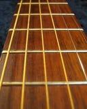 Guitarra - perspectiva de Fretboard imagen de archivo libre de regalías