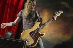 Guitarra player_3 de la roca Fotografía de archivo