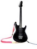 Guitarra preta Fotos de Stock