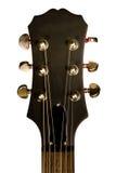 Guitarra principal do close up Fotos de Stock