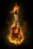 Guitarra quente ilustração do vetor