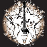 Guitarra retra Imágenes de archivo libres de regalías
