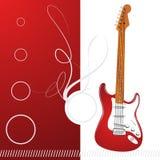 Guitarra retra Fotografía de archivo libre de regalías
