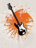 Guitarra retro da estrela de Grunge Ilustração do Vetor