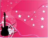 Guitarra rosada del vector Fotos de archivo