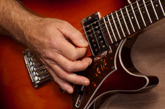 Guitarra a solas imagen de archivo libre de regalías