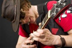 Guitarra a solas Foto de archivo libre de regalías