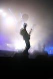 Guitarra a solas en concierto Fotos de archivo libres de regalías