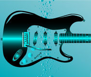 Guitarra submersa Imagem de Stock Royalty Free