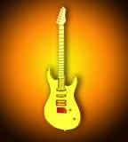 Guitarra transparente amarela Fotografia de Stock
