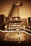 Guitarra velha Fotografia de Stock Royalty Free