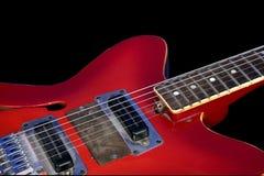 Guitarra vermelha Imagem de Stock Royalty Free