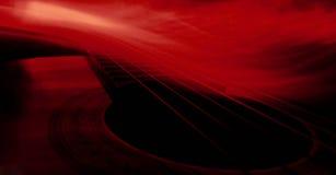 Guitarra vermelha Imagem de Stock