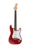 Guitarra vermelha da rocha Imagens de Stock Royalty Free