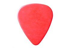A guitarra vermelha pegara o fim isolada Imagem de Stock Royalty Free