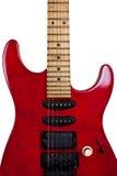 Guitarra vieja roja Fotos de archivo