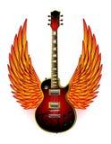 A guitarra voa o incêndio ilustração royalty free