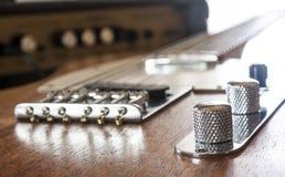 Guitarra y amperio Foto de archivo