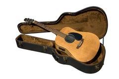 Guitarra y caso imágenes de archivo libres de regalías