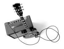 Guitarra y combinado eléctricos Foto de archivo