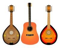 Guitarra y dos Mandalina Fotografía de archivo