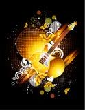 Guitarra y mariposa Fotografía de archivo libre de regalías