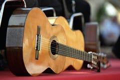 Guitarras acústicas Imagen de archivo libre de regalías