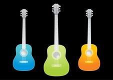 Guitarras acústicas Fotos de archivo libres de regalías