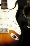 Guitarras acústicas y eléctricas Fotos de archivo libres de regalías