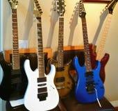 5 guitarras clásicas Fotografía de archivo