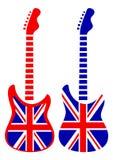 Guitarras de Gran Bretaña stock de ilustración