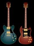 Guitarras eléctricas ilustración del vector