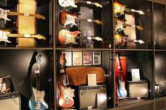 Guitarras - el museo, UmeÃ¥ imagen de archivo libre de regalías