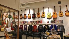 Guitarras - el museo, Umeå imagen de archivo