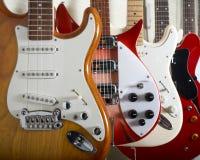 Guitarras eléctricas Imágenes de archivo libres de regalías