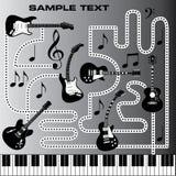 Guitarras y teclado de piano Imagenes de archivo