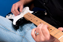 Guitarrista Fotografia de Stock Royalty Free