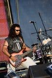 Guitarrista bajo imagenes de archivo