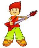 Guitarrista Boy ilustração stock