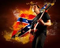 Guitarrista da rocha Imagem de Stock Royalty Free