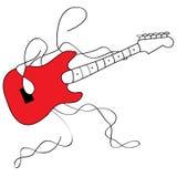 Guitarrista da rocha fotografia de stock royalty free
