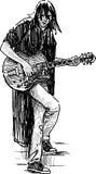 Guitarrista de la calle ilustración del vector