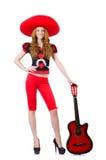 Guitarrista de la mujer Foto de archivo