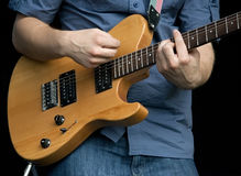 Guitarrista de la roca fotos de archivo libres de regalías